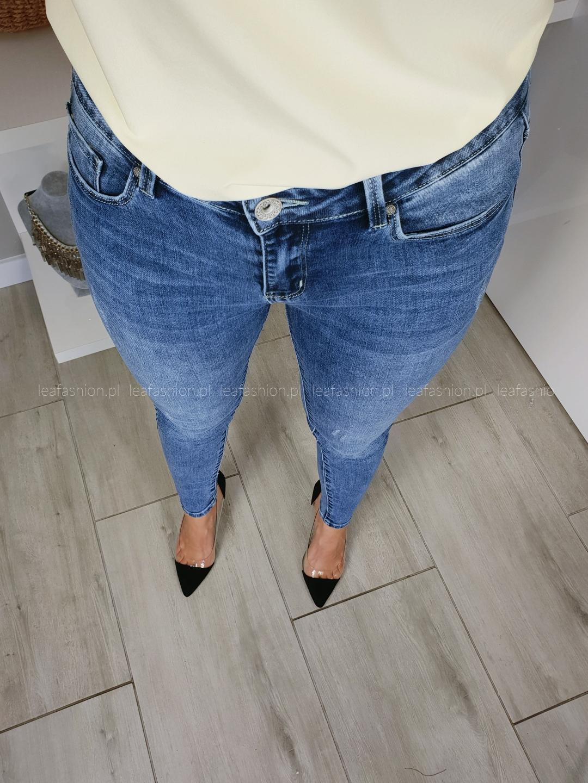 dżinsy jasny niebieski - SPODNIE JEANSY SHINY DESIGN 1402