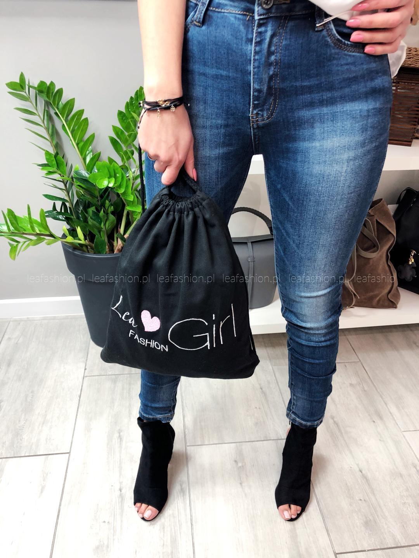 czarny worek plecak na rower - WOREK PLECAK LEA GIRL