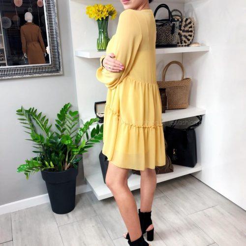 sukienka zółto musztardowa 500x500 - SUKIENKA JOY ŻÓŁTA