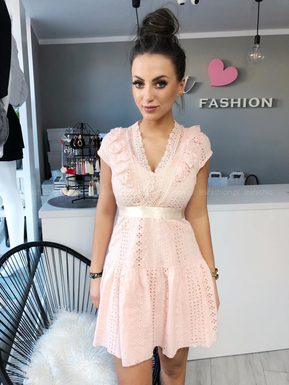 sukienka blady róż - SUKIENKA LILLIE POWDER