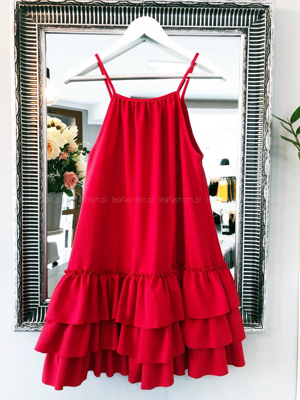 czerwona sukienka na lato