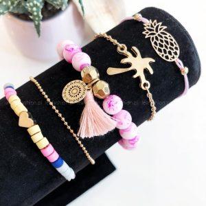 bransoletki różowe