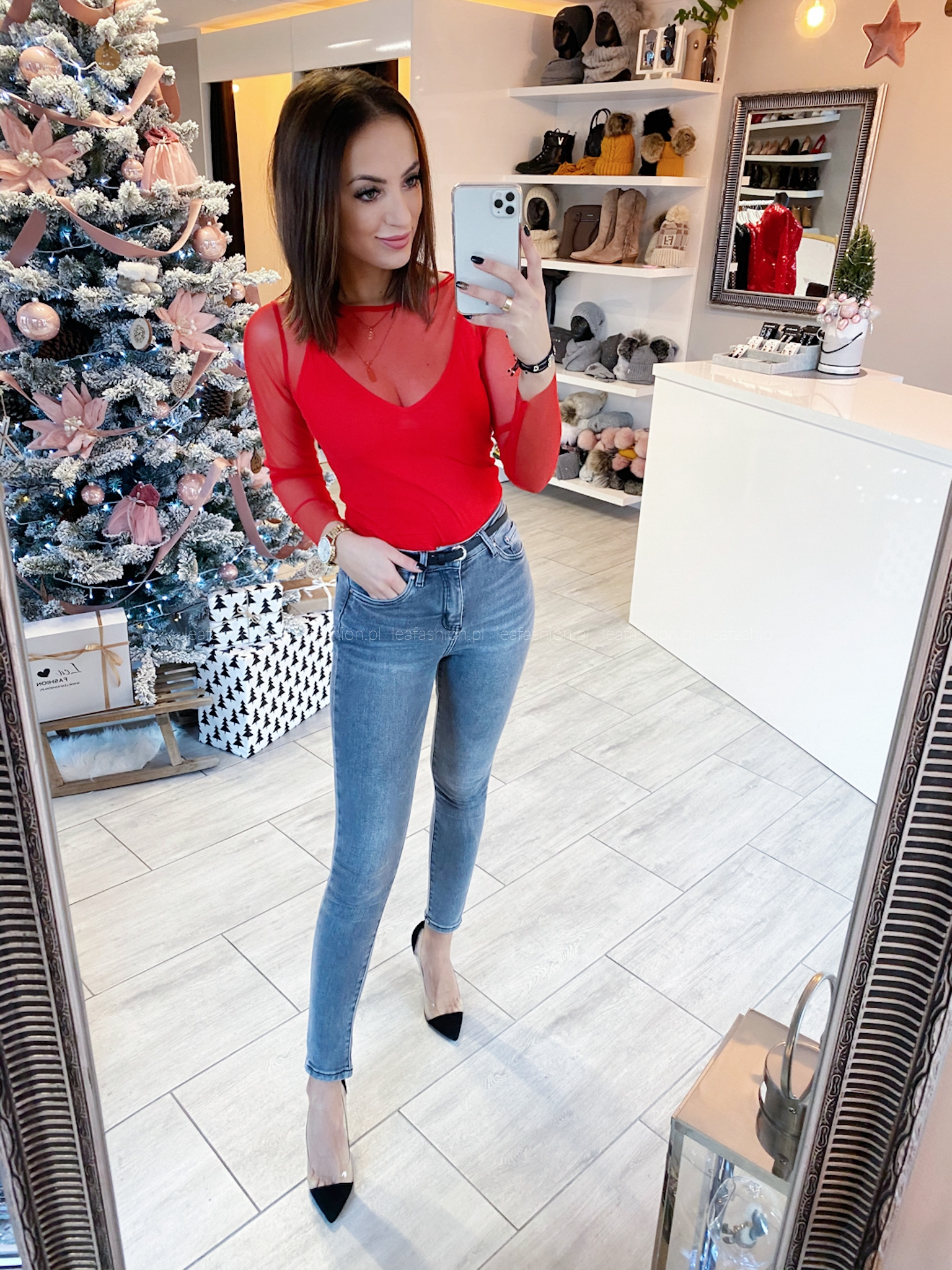 Czerwona bluzka