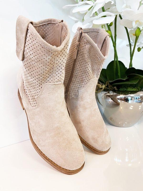 kremowe buty