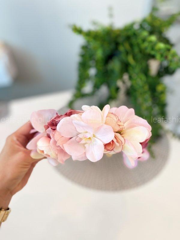 opaska z kwiatami