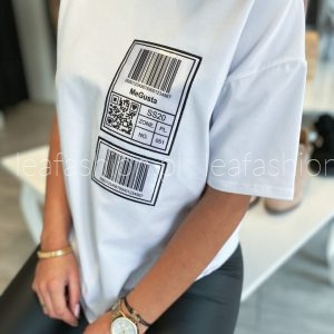 t-shirt me gusta biały