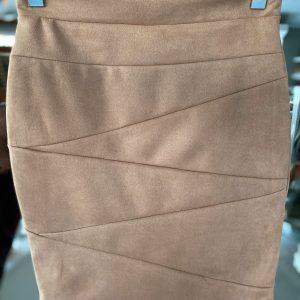 brązowa spódnica